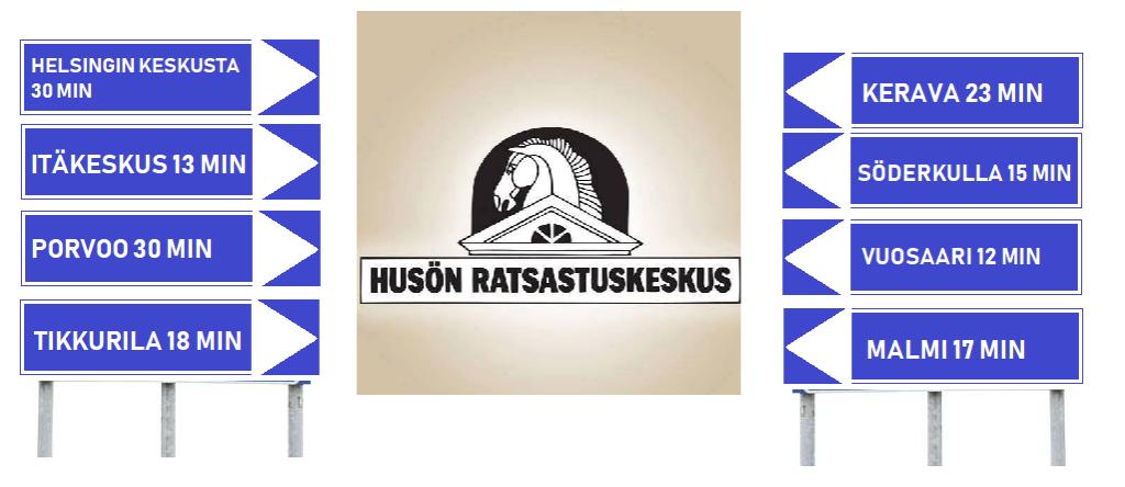 Husön ratsastuskoulu sijaitsee Helsingissä. Ratsastuskoululle on lyhyt matka myös Vantaalta, Sipoosta ja Keravalta.